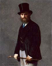 Henri Fantin-Latour (1836-1904). Portrait d'Édouard Manet, 1867. Huile sur toile, The Art Institute of Chicago, The Stickney Fund